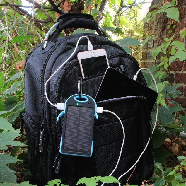 10,000 mAh Water-Resistant Solar Charger for Mobile Devices