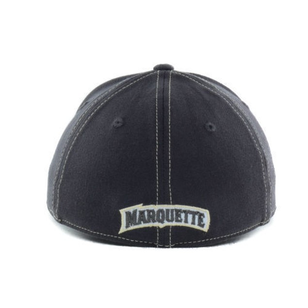 """Marquette Golden Eagles NCAA TOW """"Slate"""" Stretch Fitted Hat"""