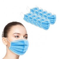 50-Pack 3-Ply Disposable Sanitary Earloop Face Mask
