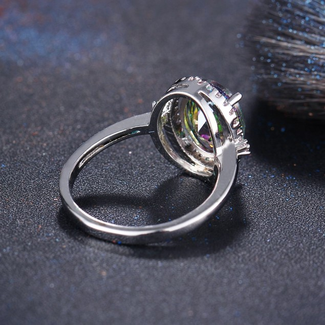 Cubic Zirconia Fancy Large Round Ring
