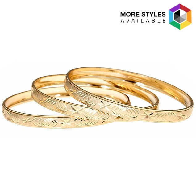 3-Pack 18K Gold PlatedBangles