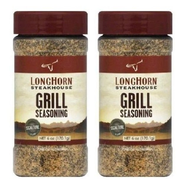Longhorn Steakhouse Grill Seasoning 2 Bottle Pack