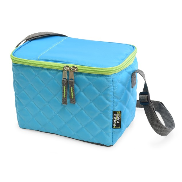 Polar Pack Quilted 6 Can Insulated Travel Cooler w/ Handle