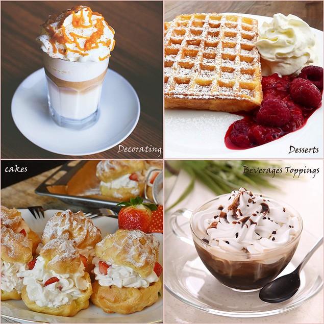 Whipped Cream Dispenser Professional 1 Pint Cream Whipper Drinks & Desserts