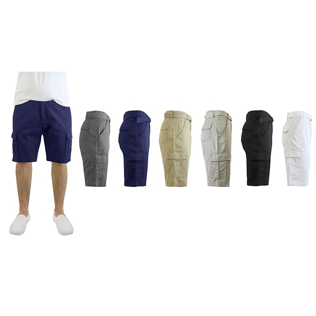 Men's Cotton Belted Cargo Shorts