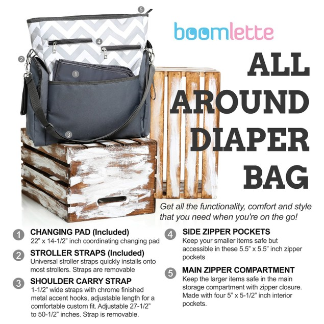 Boomlette All Around Diaper Bag Bellechic