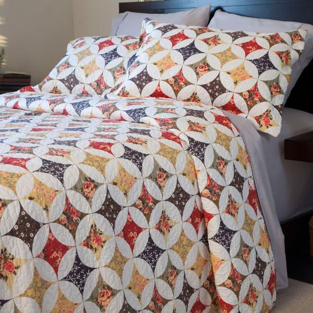 Lavish Home Cassandra Quilt 3 Piece Set