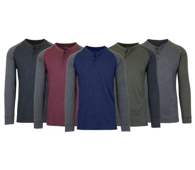 Men's Long Sleeve Marled Henley Tee Was: $59.99 Now: $13.99.