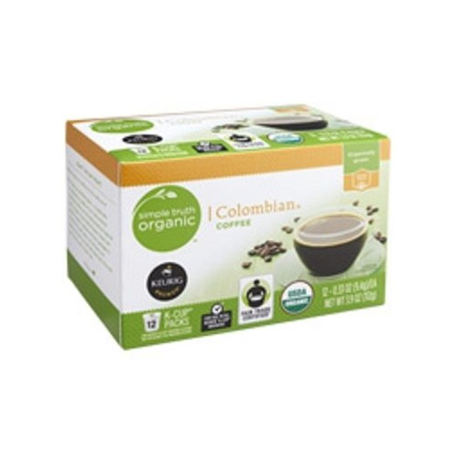 Simple Truth Organic Colombian Coffee Keurig K Cup 12 Cup Box