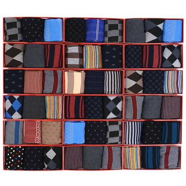 3 Pairs: Men's Printed Crew Socks in Gift Box