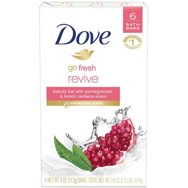 12-Pack Dove Go Fresh Pomegranate and Lemon Verbena Beauty Bar 4 oz