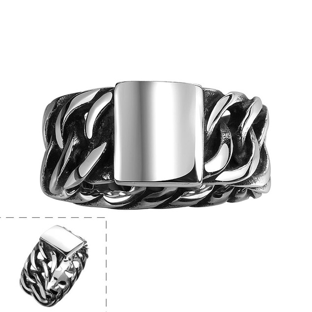 Silver Plate Stainless Steel Ring