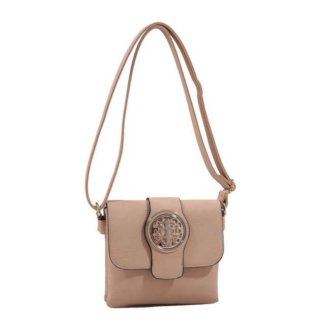 MKF Collection Buckle Snap Crossbody Bag by Mia K