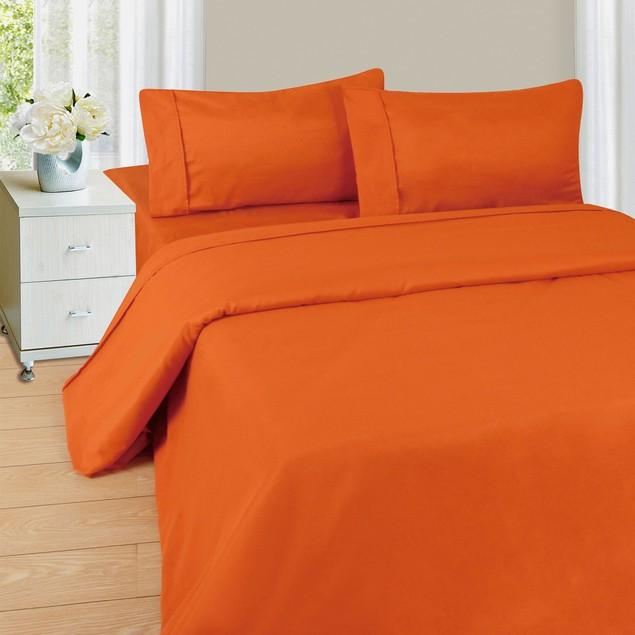 Lavish Home Series 1200 4 Piece Sheet Set - Rust
