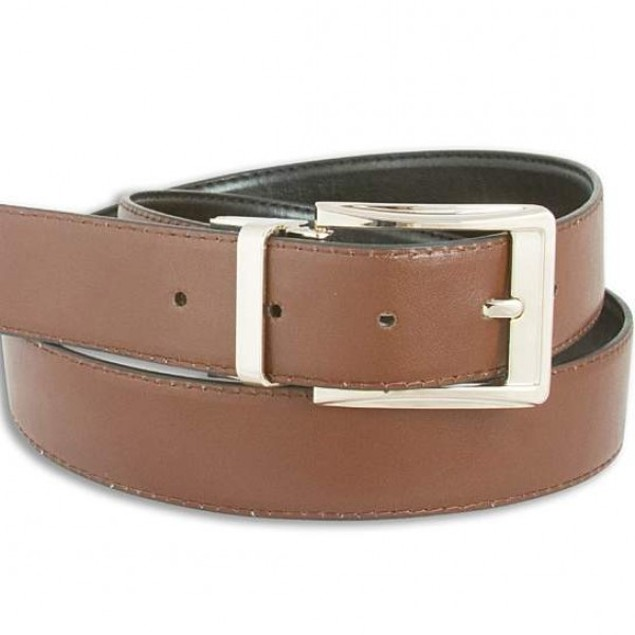 Men's Reversible Black/Brown Leather Belt