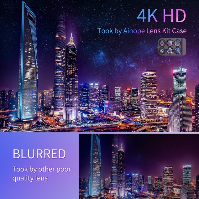 Portable iPhone Xs Lens Kit for Apple iPhone 10/Xs ONLY