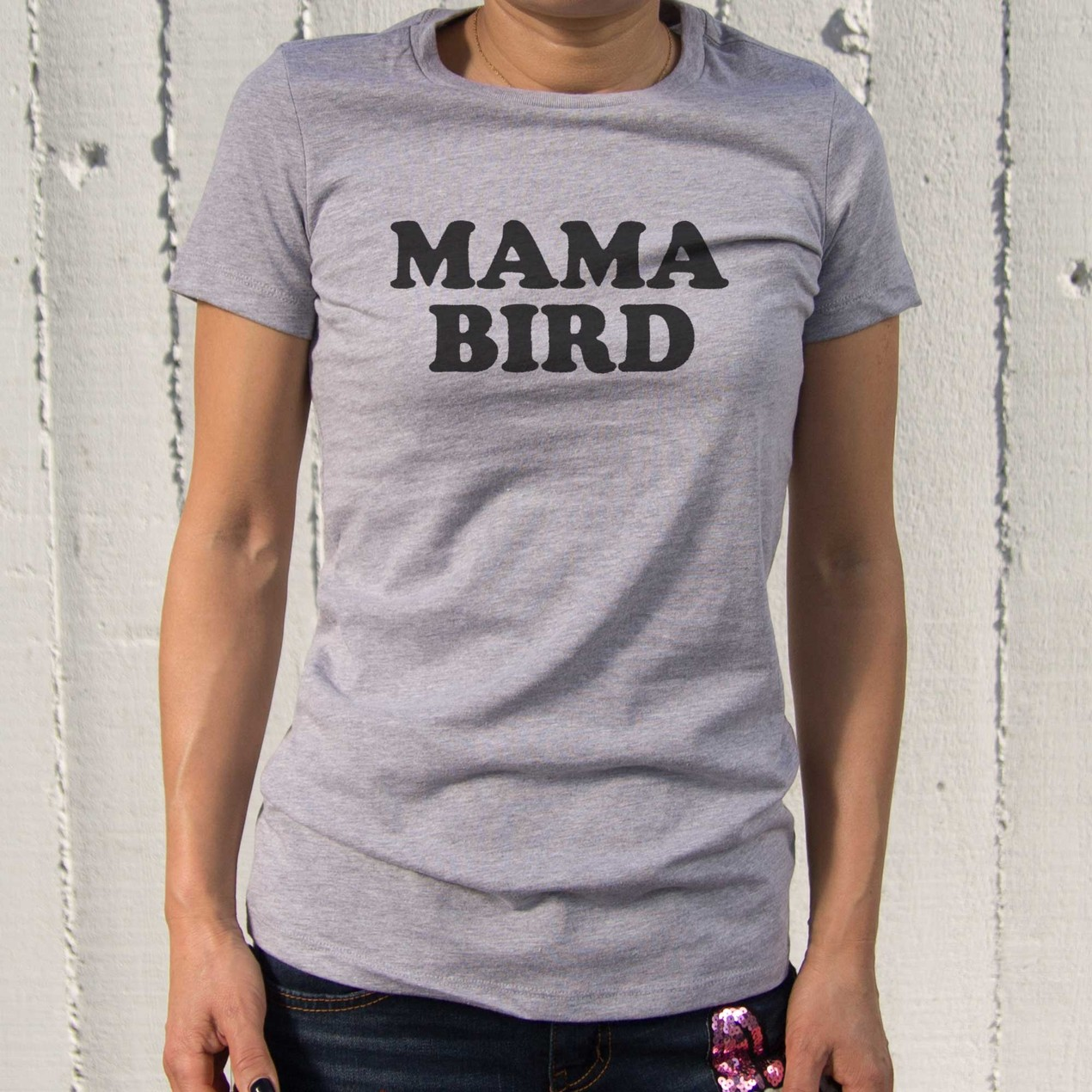 Mama Bird T-shirt Cute Graphic Tees For Mom Mothers\' Day Or ...
