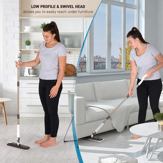 Britenway Versatile Wet/Dry Cleaning Mop w/ Spray Nozzle
