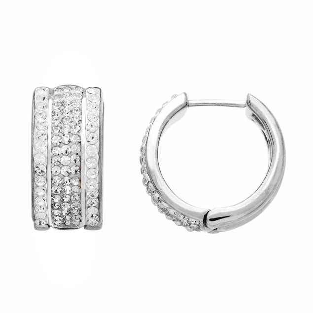 20mm Crystal Huggie Hoop Earrings
