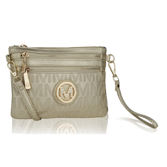 MKF Collection Roonie Milan M Signature Crossbody Wristlet by Mia K. Farrow