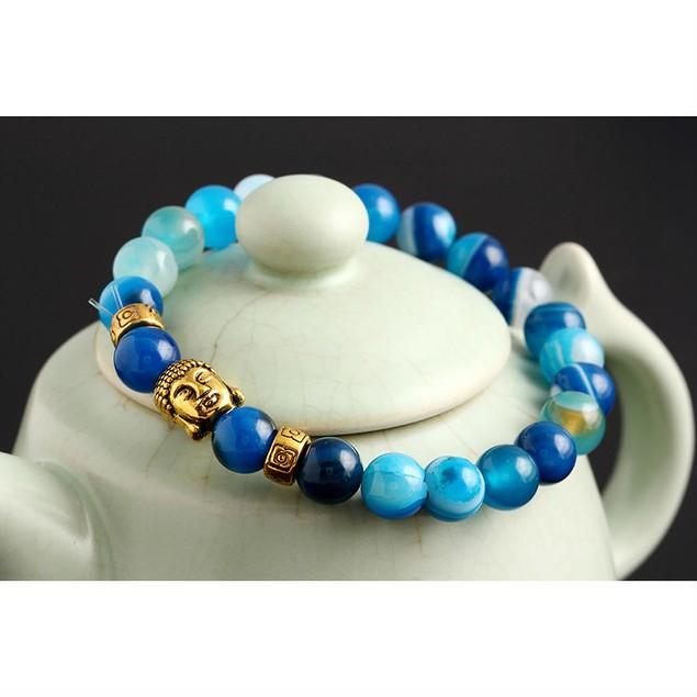 Beaded Buddha Head Yoga Bracelet - 3 Colors