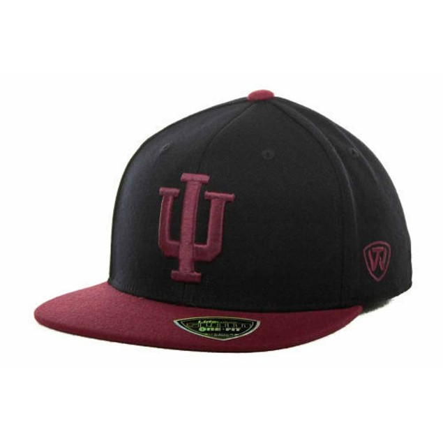 """Indiana Hoosiers NCAA TOW """"Slam"""" Flat Bill Stretch Fitted Hat"""