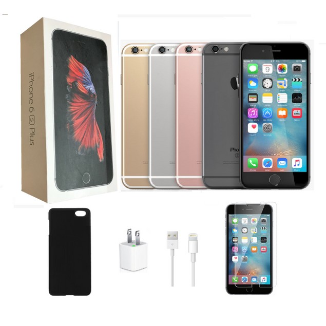 Apple iPhone 6S Plus 128GB Bundle (Black, Gold, or Rose Gold)