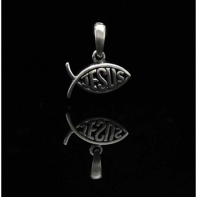 Sterling Silver Jesus Fish Ichthys Pendant/Charm Pendants