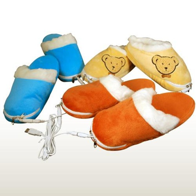 Plush, Soft & Warm USB Heated Slippers