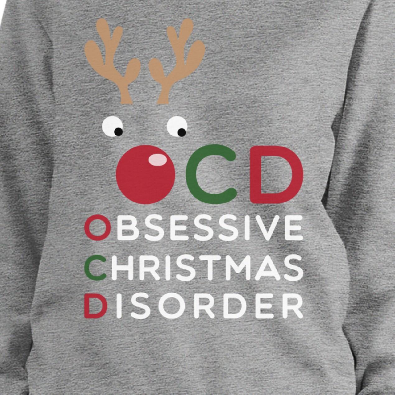 OCD Obsessive Christmas Disorder Sweatshirt Pullover Fleece Sweater ...