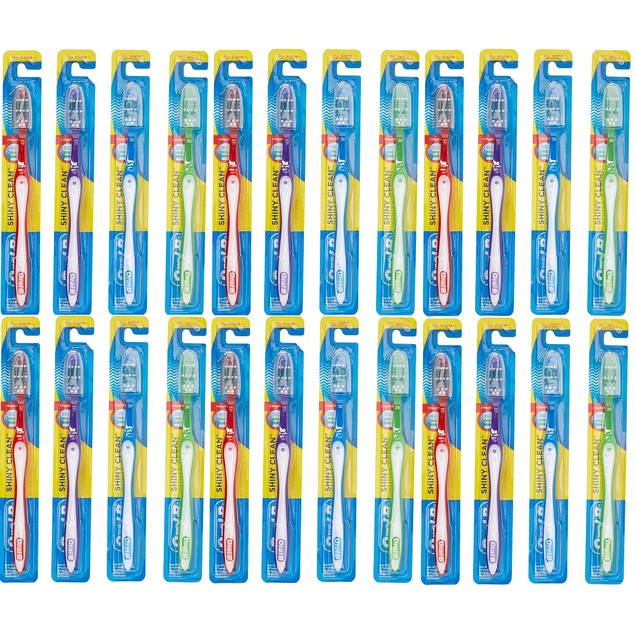 24-Pack Oral-B Shiny Clean Soft Toothbrushes