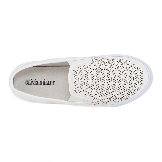 Olivia Miller 'Aventura' Laser Cut Low-Top Sneakers