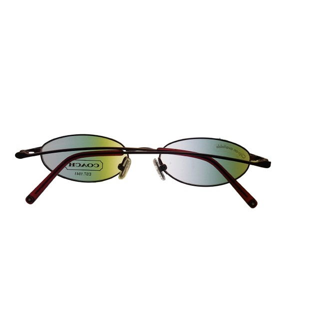 Coach Opthalmic Eyeglass Frame Modified Oval Antique Rose Metal, Cassidy