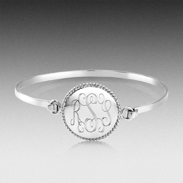Personalized Monogram Round Bangle