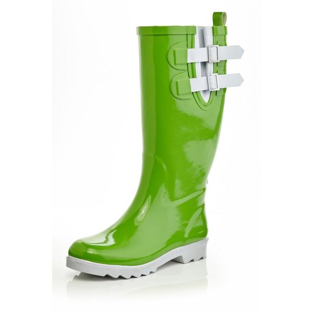 Black Stone Women's two-tone color Rain boots w/ 2 Adjustable Buckles