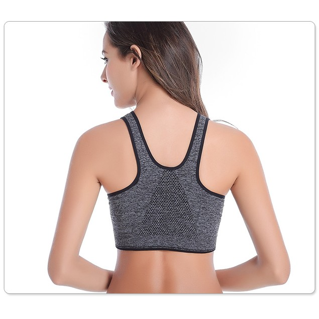 3-Pack: Incredible Endurance Front-Zip Sports Bras