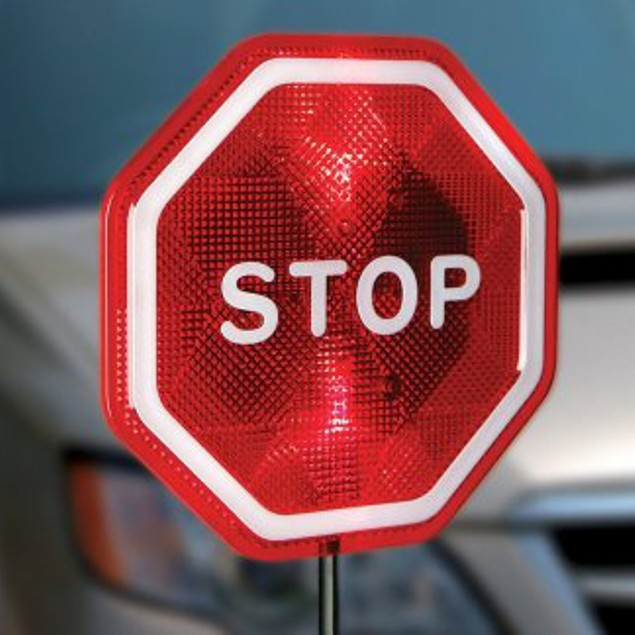 Flashing LED Light Parking Stop Sign For Garage