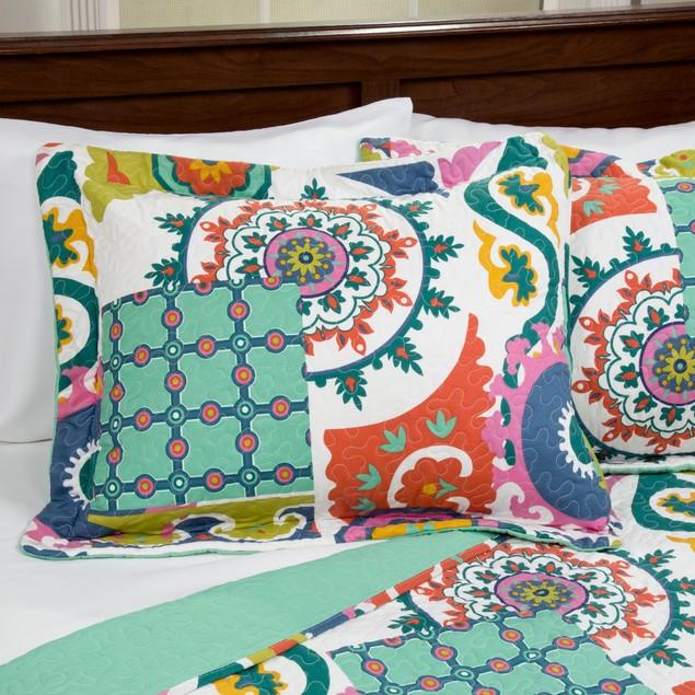 Lavish Home 3 Piece Sybil Quilt Set