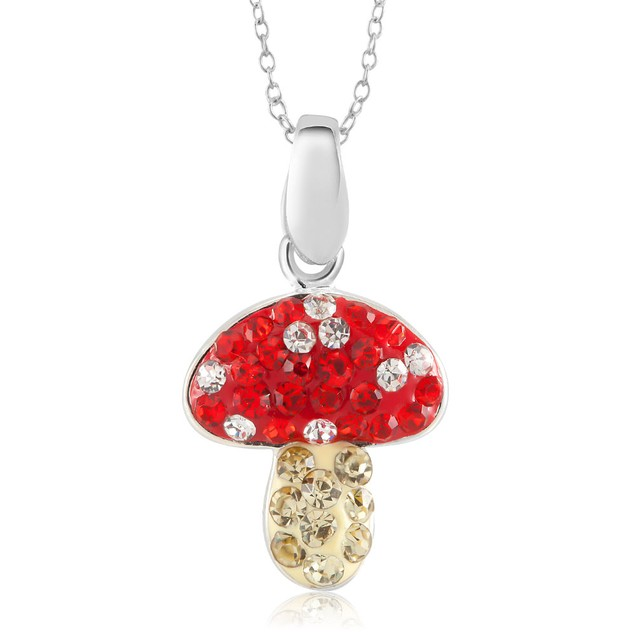 Crystal Novelty Fashion Necklace - Mushroom