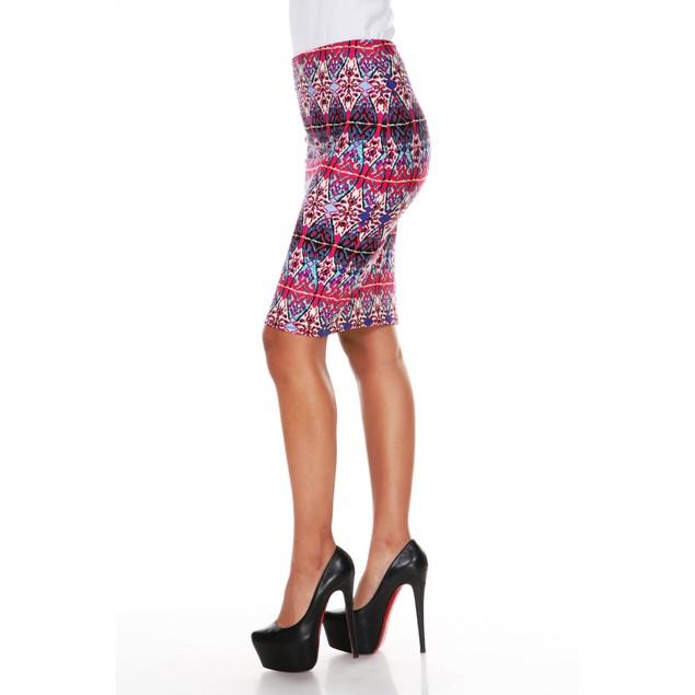 Bold Printed Pencil Skirt