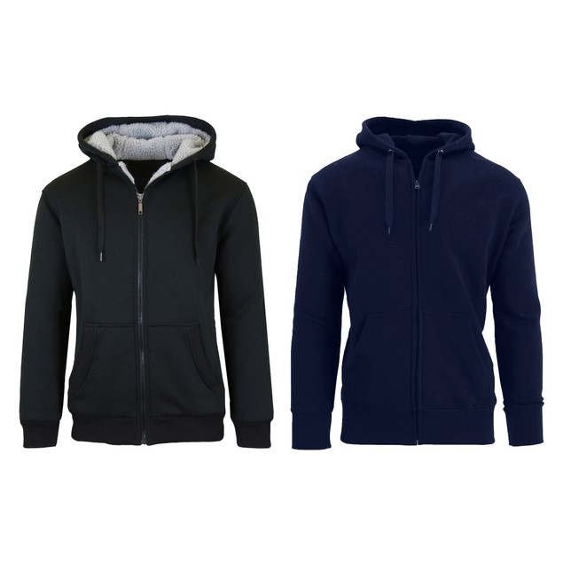 Men's 2-Pack Sherpa And Fleece Line Hoodies