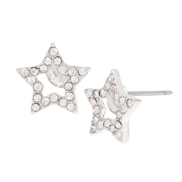 Cubic Zirconia Star Stud Earrings