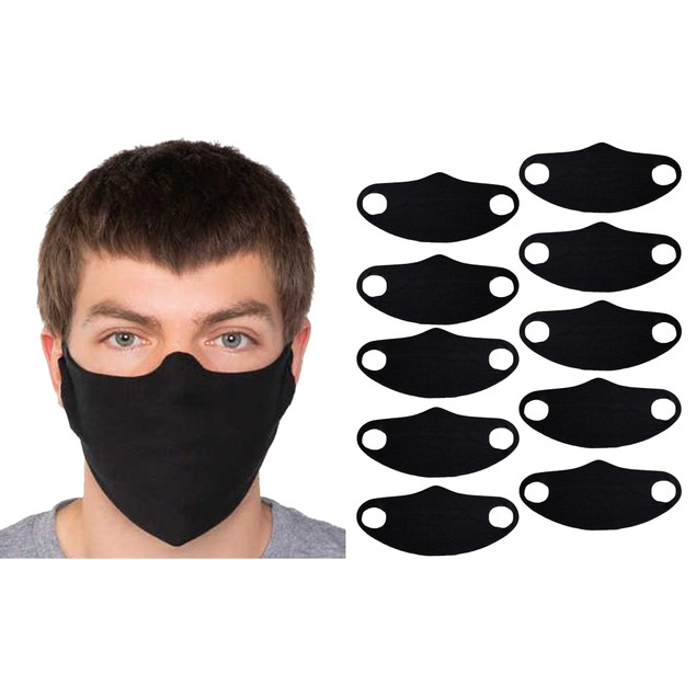 5 and 10 Pack Non Medical Washable & Reusable Stretch Fabric Face Mask