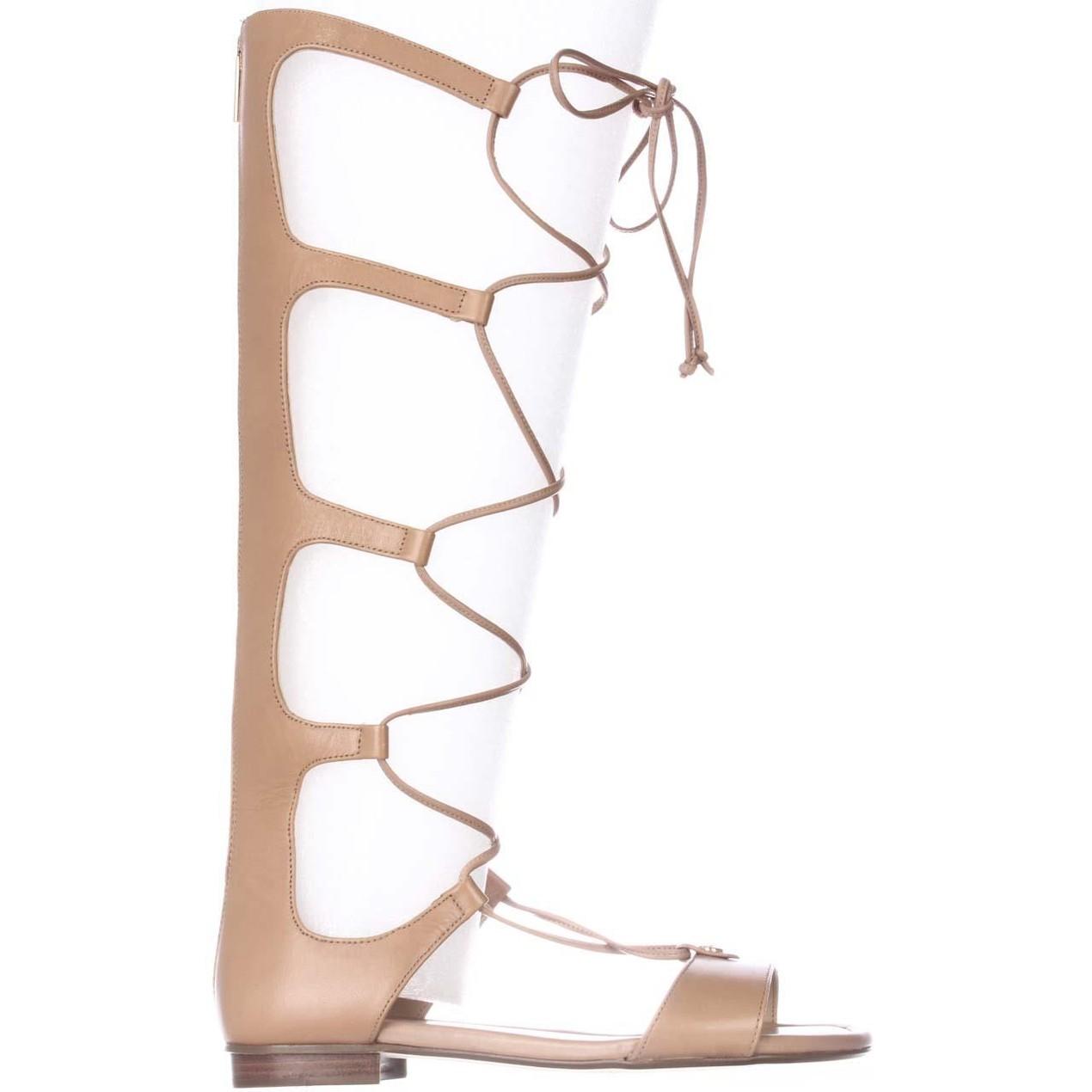 feb50a3814da MICHAEL Michael Kors Sofia Knee-High Gladiator Sandals - Suntan - Tanga
