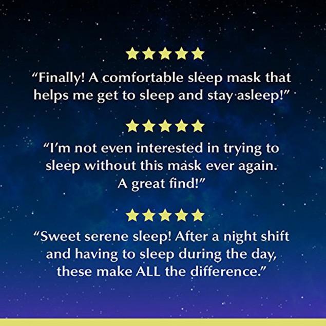 Living Pure Luxury Sleep Mask with Ear Plugs