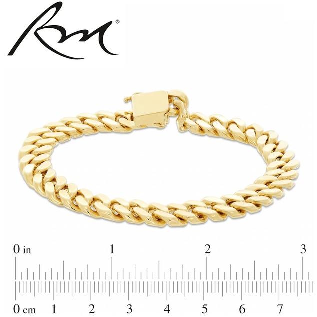 Roberto Martinez 14K Gold Over Bronze Handmade Cuban Bracelet