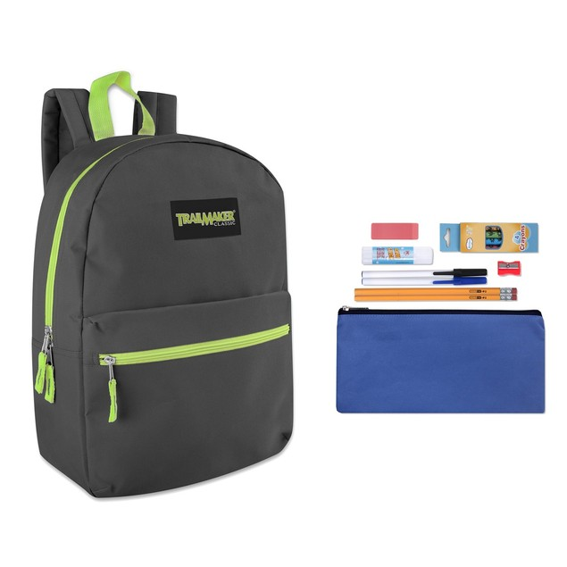 "Trailmaker Classic 17"" Backpack + 12 Piece School Supply Kit"