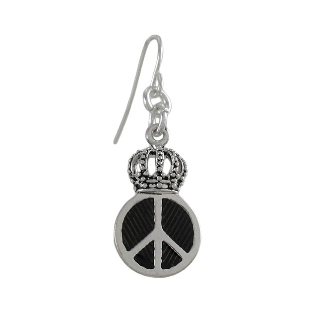 Royal Winged Peace Sign Necklace And Dangle Womens Earring And Necklace