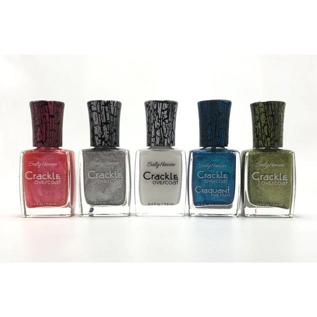 5-Pack Sally Hansen Crackle Overcoat Nail Polish - Assorted Colors