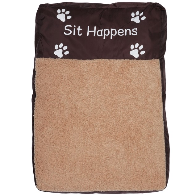 Faux Sheepskin Memory Foam Pet Bed - Sit Happens